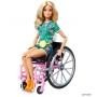 Boneca Barbie Fashionistas 165 Cadeirante Loira Conjunto Tropical To Move Articulada - Mattel