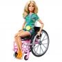 Boneca Barbie Fashionistas # 165 Cadeirante Loira Conjunto Tropical - To Move Articulada
