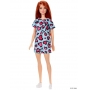 Boneca Barbie Ruiva Vestido Verde Corações Rosa - Mattel