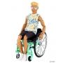 Boneco Ken  Fashionistas Cadeirante 167 Loiro To Move Articulado  - Mattel