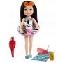 Boneca Barbie Chelsea Praia Zebra