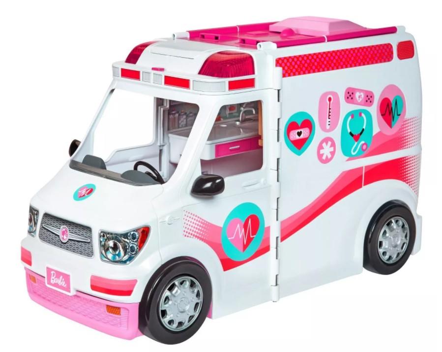 Ambulância e Hospital Móvel da Barbie - Veículo Playset