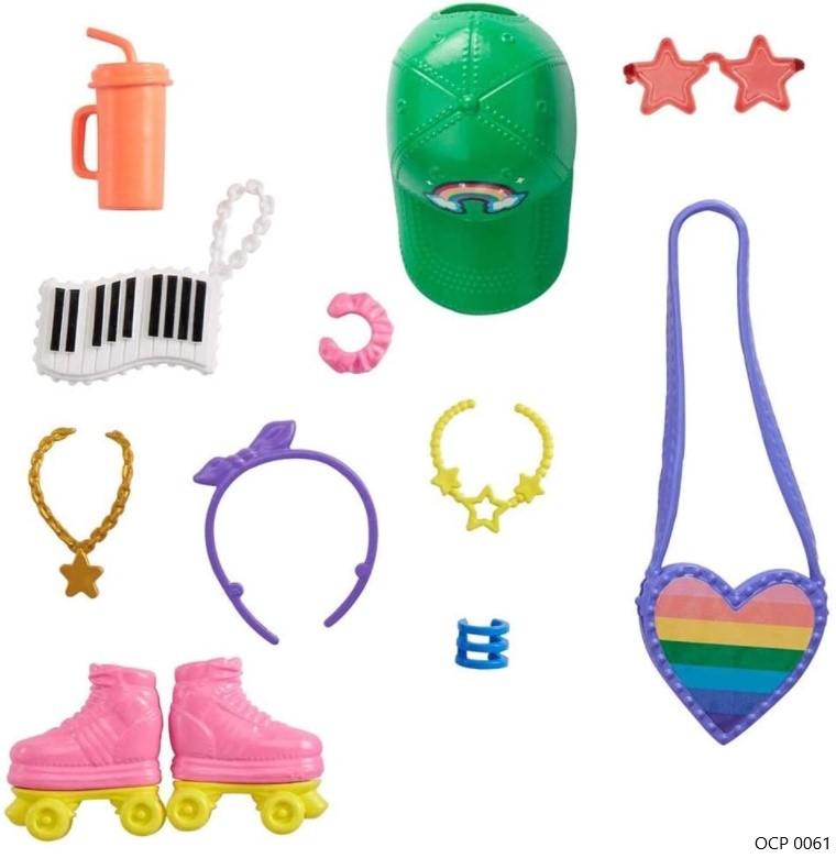 Barbie Acessórios Conjunto Patins - Mattel