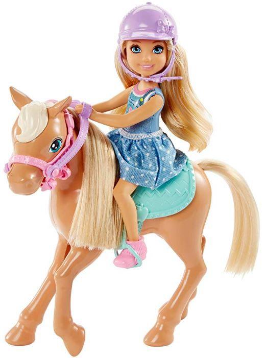 Barbie Club Chelsea - Boneca Loira e Pônei