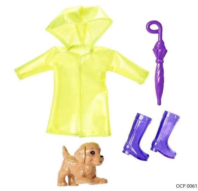 Barbie Club Chelsea Conjunto Chuva para a Boneca Chelsea - Mattel