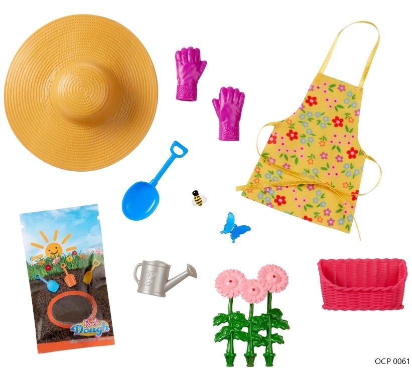 Barbie Doce Pomar na Fazenda Moda e 10 acessórios jardinagem - Mattel