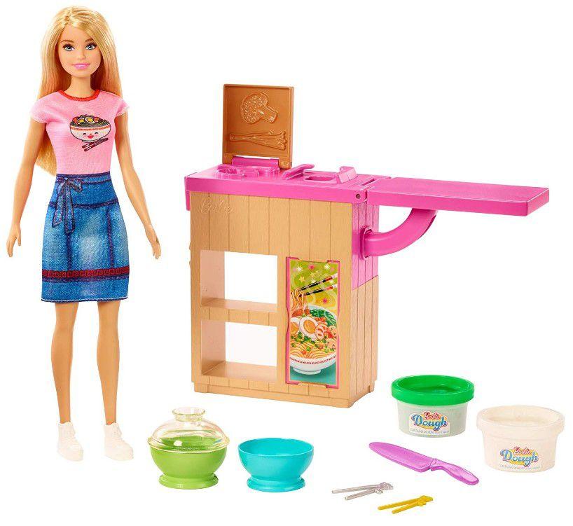 Barbie Estação de Macarrão - Playset e Boneca
