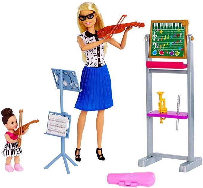 Boneca Barbie Profissões - Professora de Música & Playset