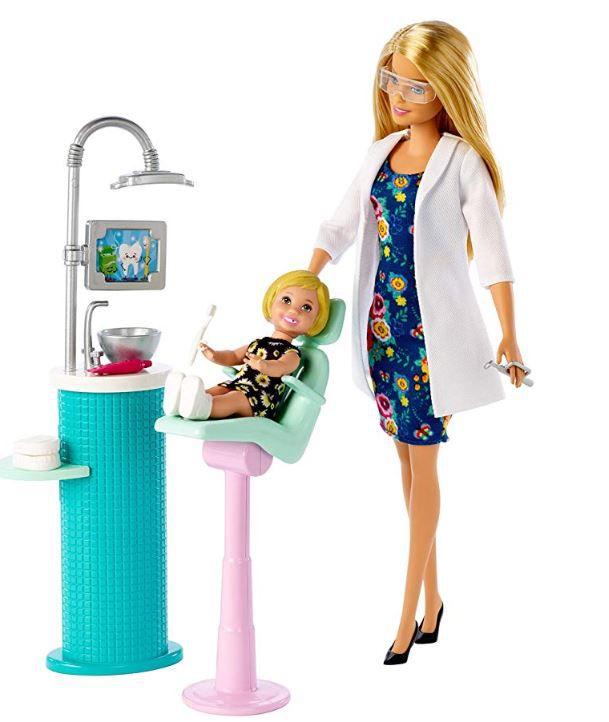 Boneca Barbie Profissões - Dentista e Playset - Cabelo Loiro