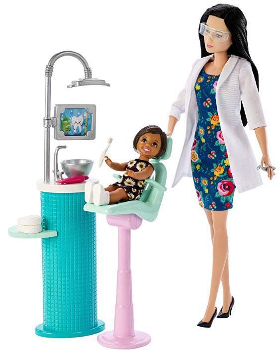 Boneca Barbie Profissões - Dentista e Playset - Cabelo Preto