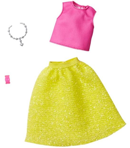 Barbie Roupas e Acessórios - Blusa Rosa Saia Brilhante