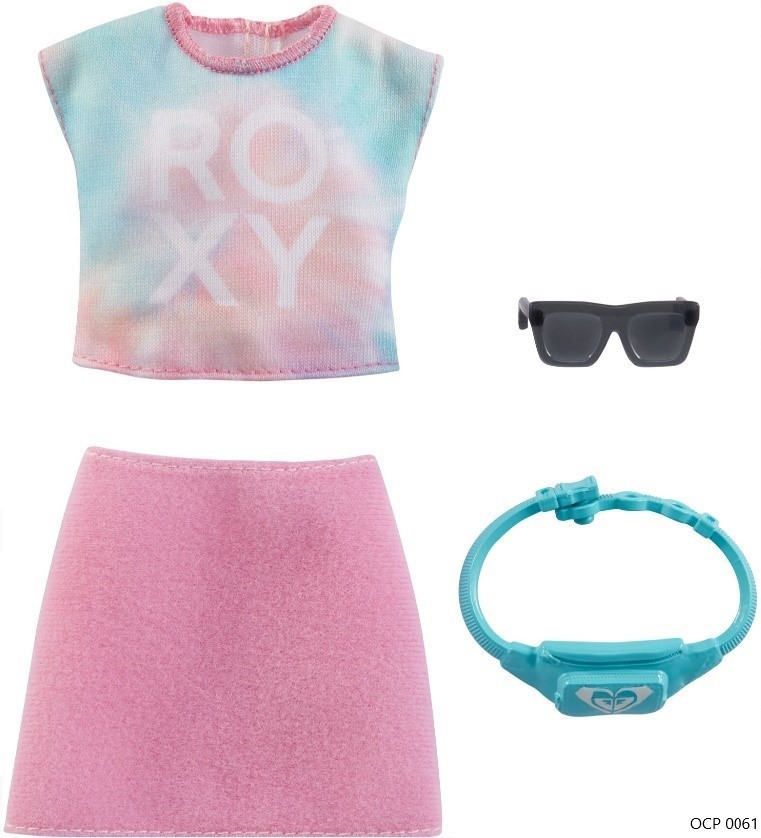 Barbie Roupas e Acessórios Blusa Tie-Dye e Saia Rosa - Mattel