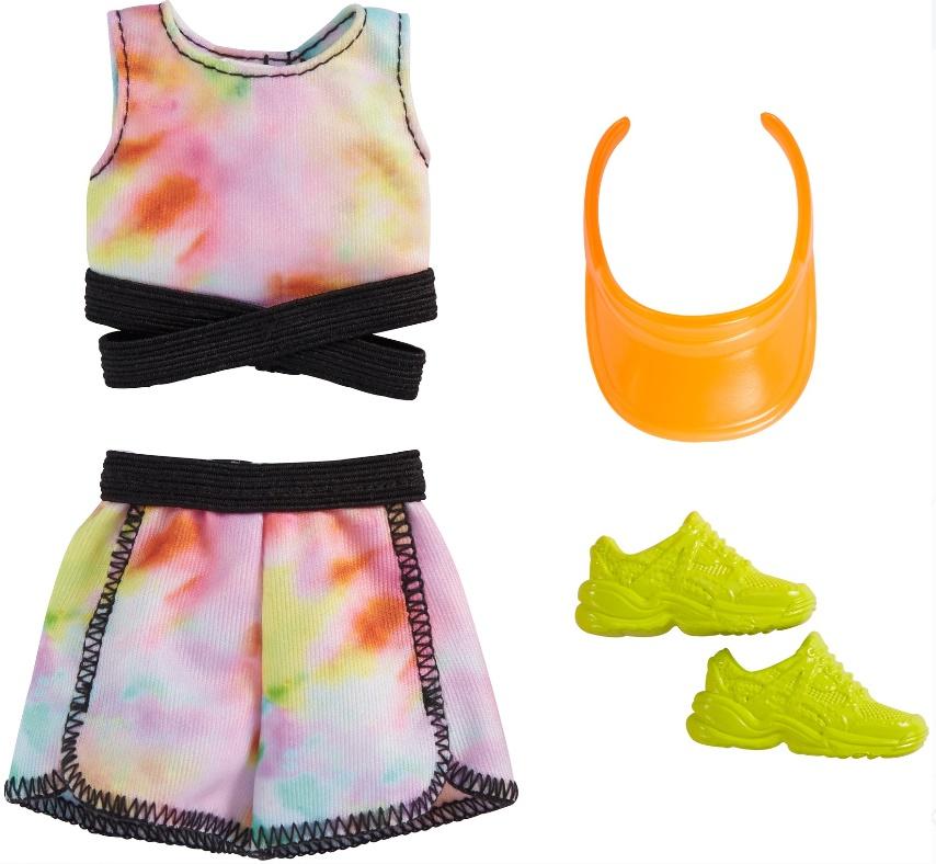 Barbie Roupas e Acessórios - Conjunto Esportivo Blusa e Shorts Tie-Tye