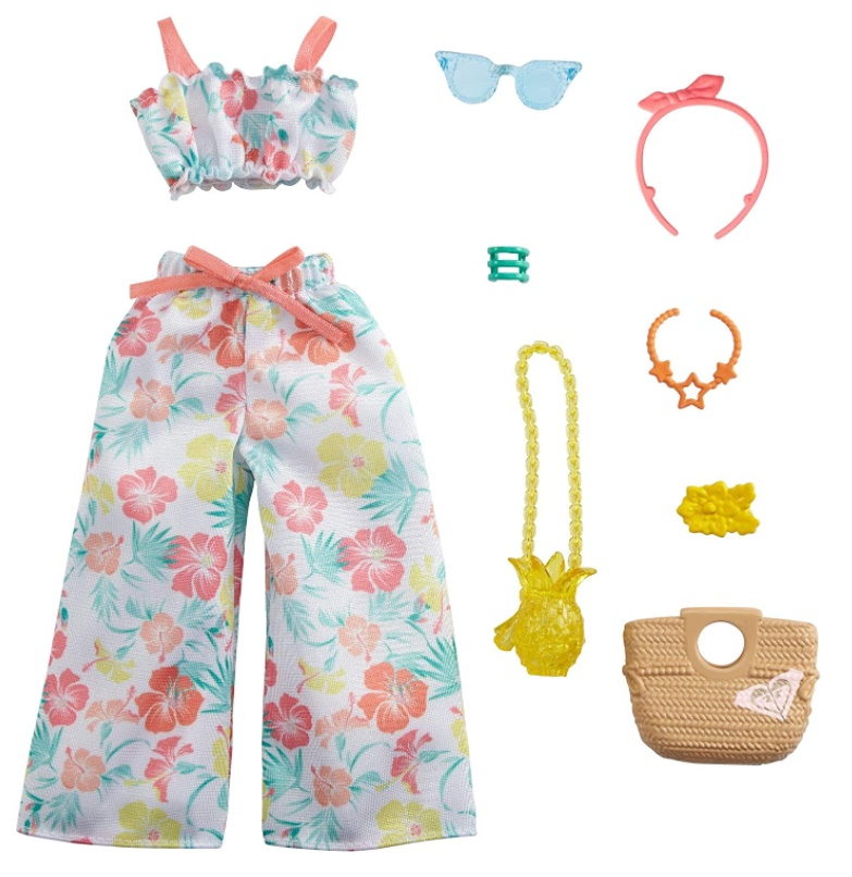 Barbie Roupas e Acessórios - Conjunto Floral com calça