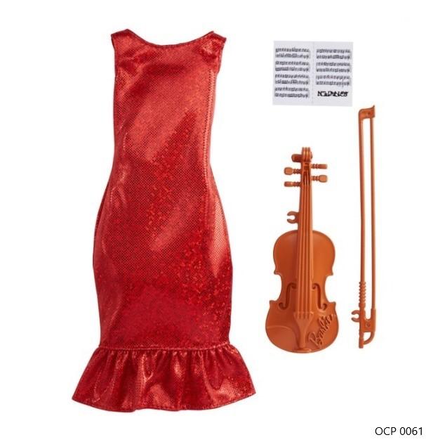 Barbie Roupas e Acessórios Conjunto Profissões Violinista - Mattel