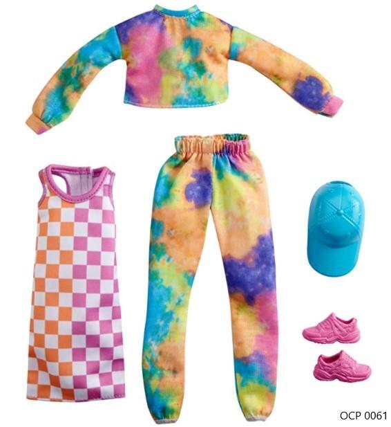 Barbie Roupas e Acessórios Conjunto Tie-Dye e Vestido - Mattel