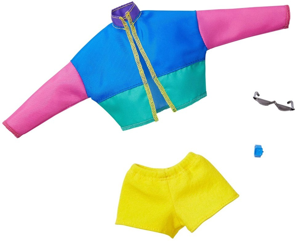 Barbie Roupas e Acessórios - Jaqueta Bomber Colorida e Shorts
