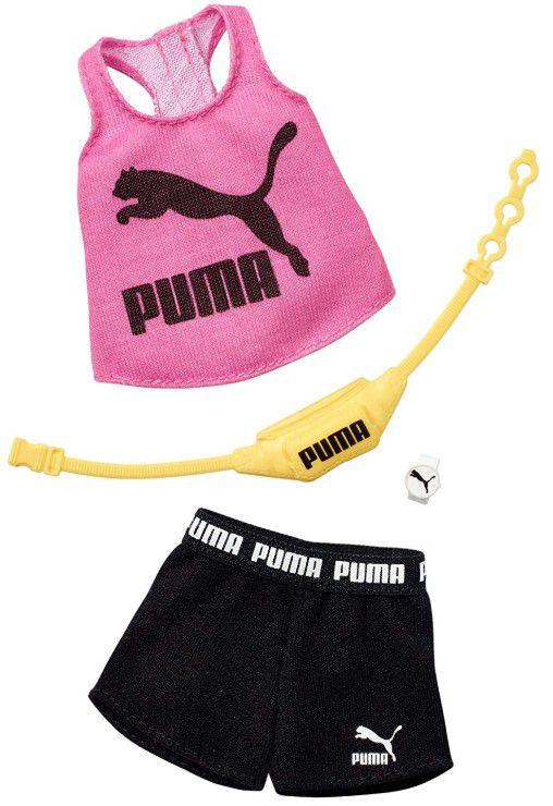 Barbie Roupas e Acessórios - Regata PUMA Rosa e Shorts Preto