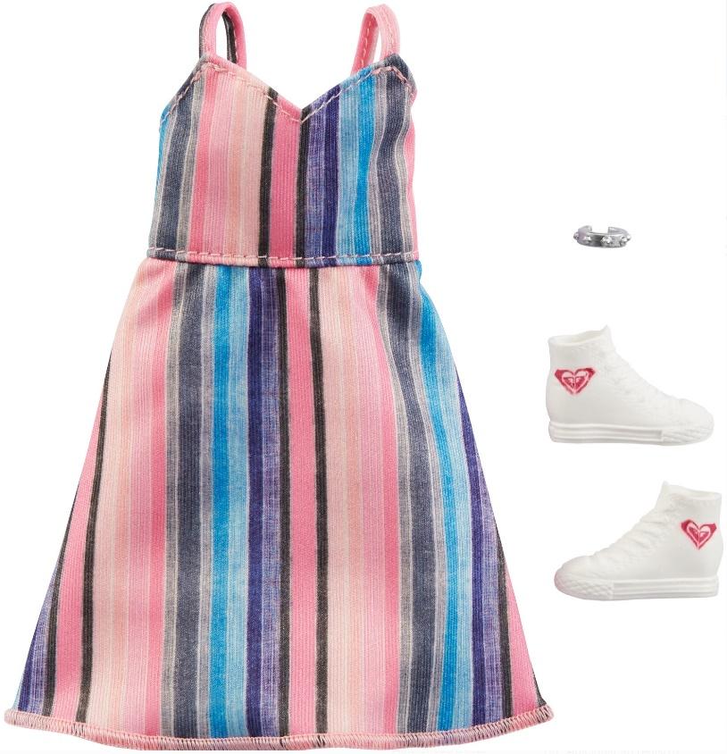 Barbie Roupas e Acessórios - Vestido Alças Listrado