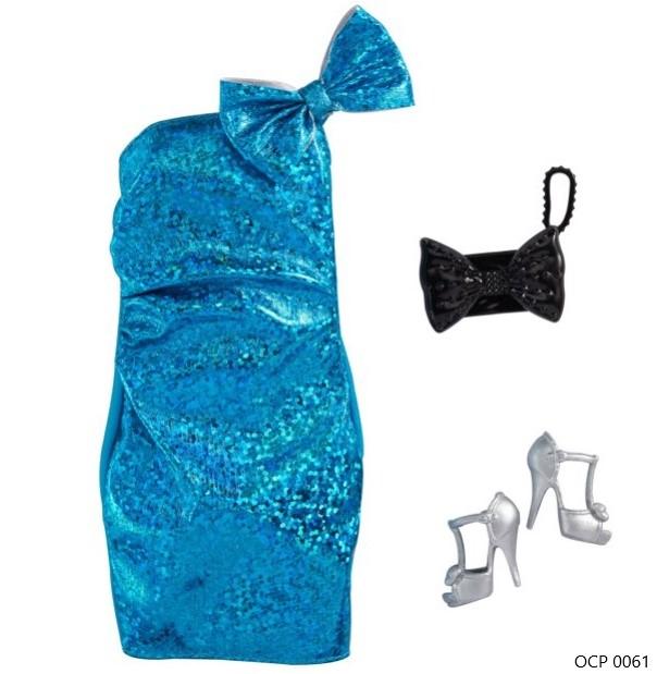 Barbie Roupas e Acessórios Vestido Azul Metálico - Mattel