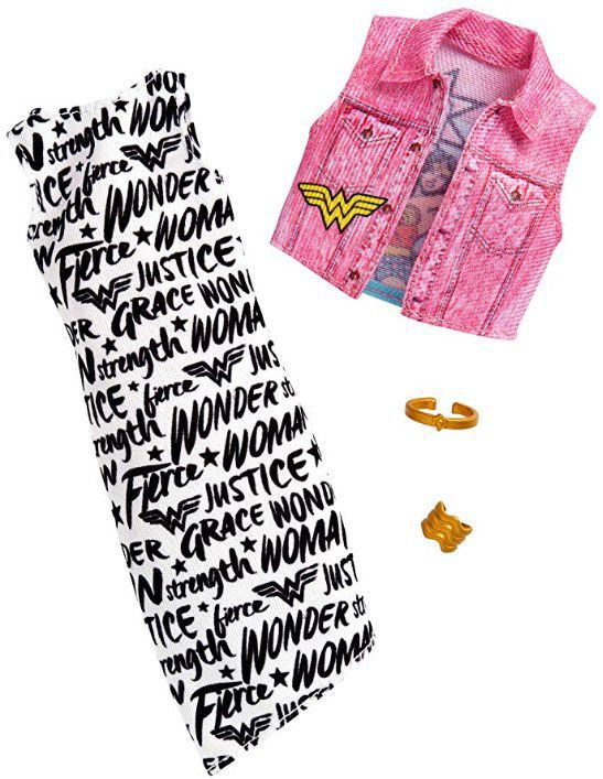Barbie Roupas e Acessórios - Vestido Colete Mulher Maravilha - Pack