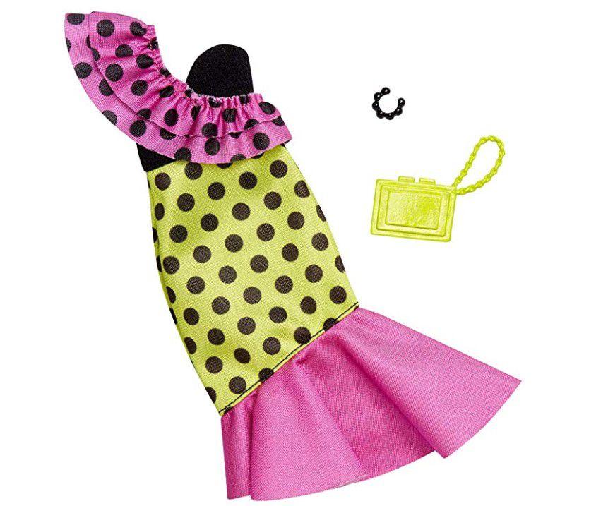 Barbie Roupas e Acessórios - Vestido Poá Nula Manga
