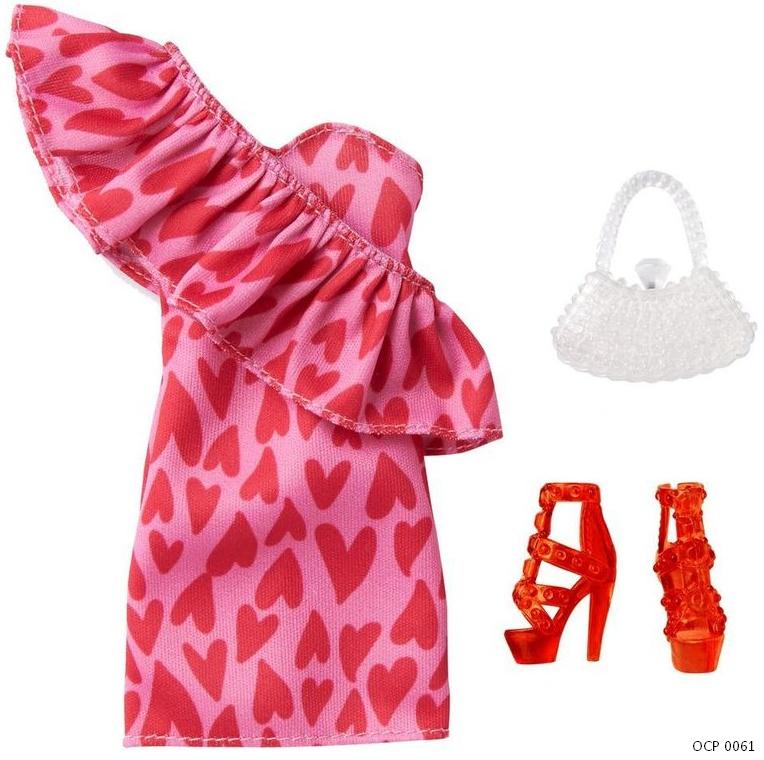 Barbie Roupas e Acessórios Vestido Rosa Corações - Mattel