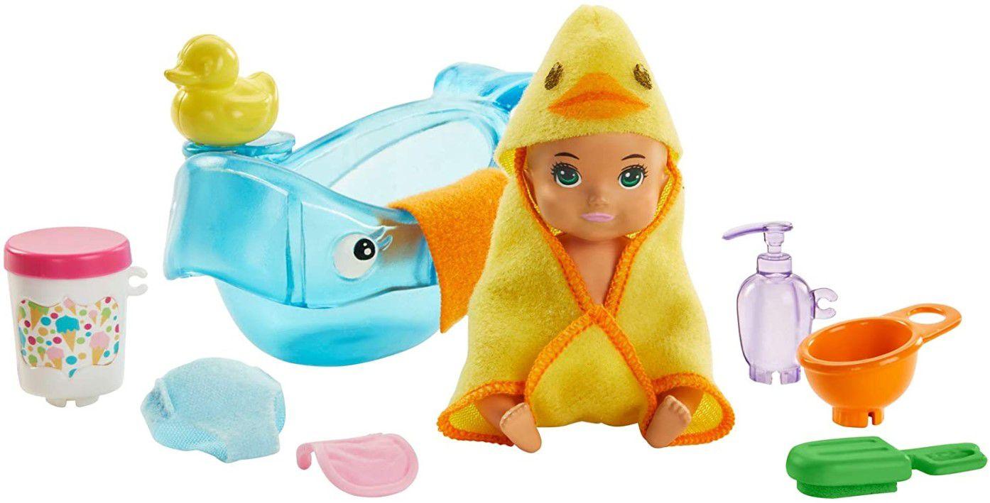 Barbie Skipper Babysitters - Conjunto Bebê Alimentação e Hora do banho