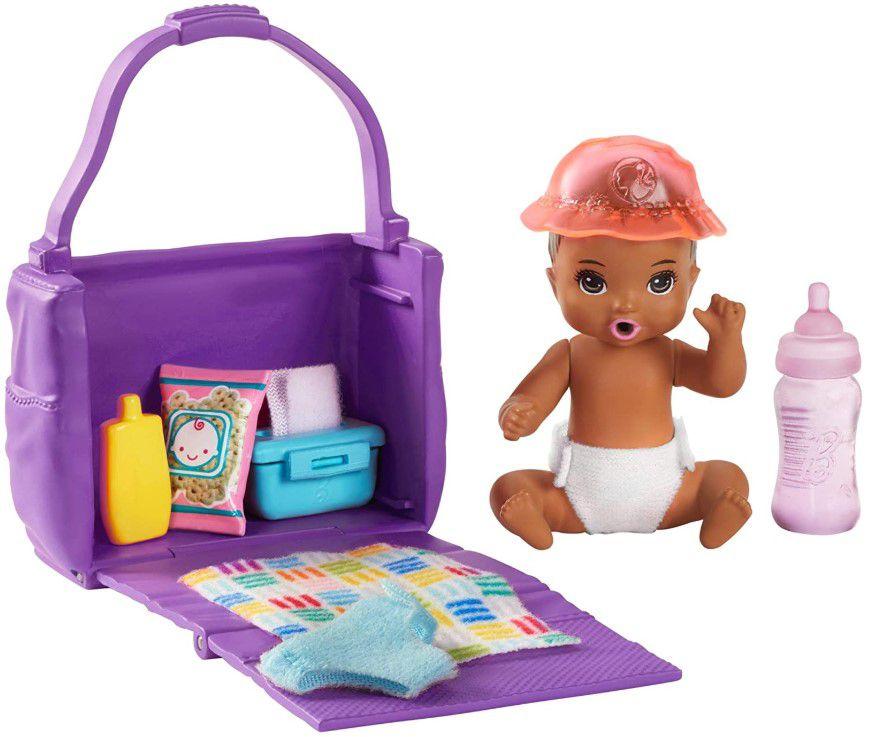 Barbie Skipper Babysitters - Conjunto Bebê Alimentação e Troca de Fraldas