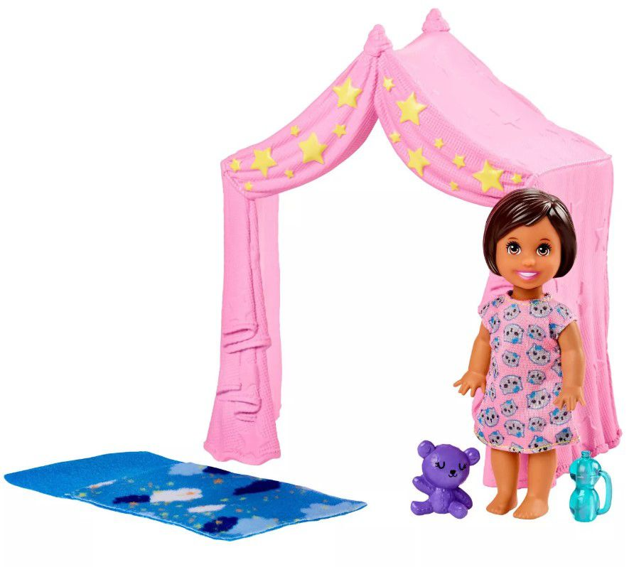 Barbie Skipper Babysitters - Menina Morena e Tenda