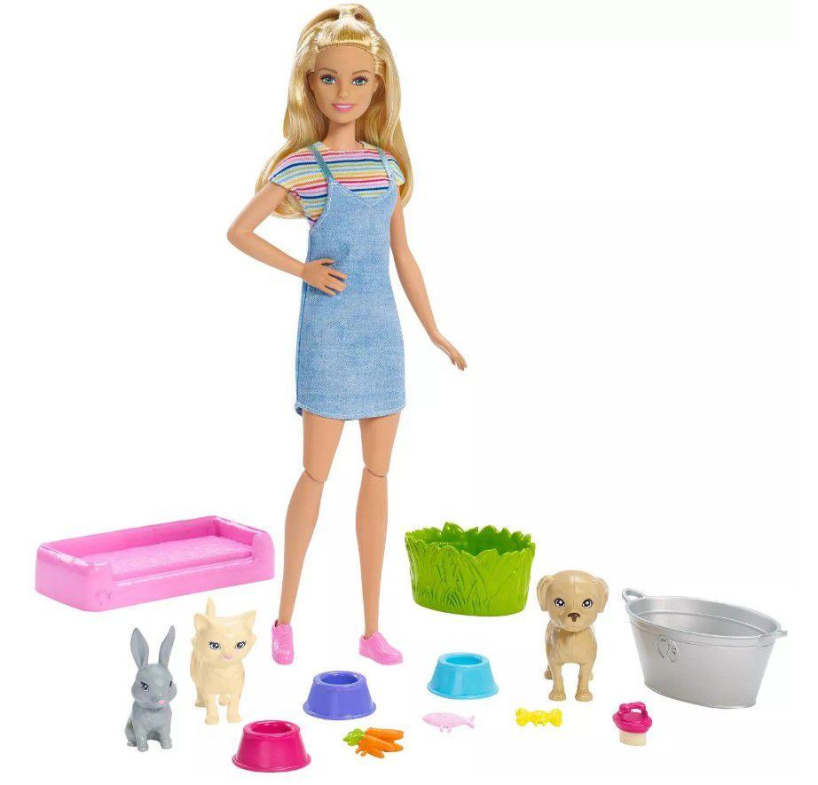 Boneca Barbie - Banho de Cachorrinhos