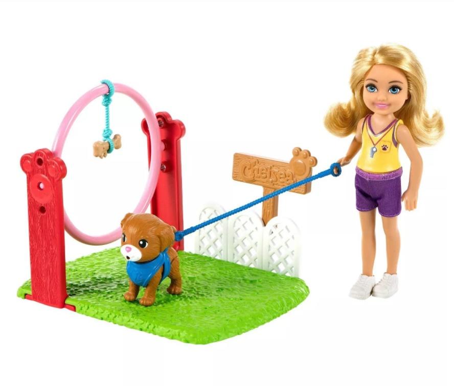 Boneca Barbie Chelsea Profissões Treinador de Cães