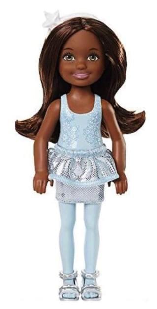 Boneca Barbie Chelsea Natal Vestido Floco de Neve