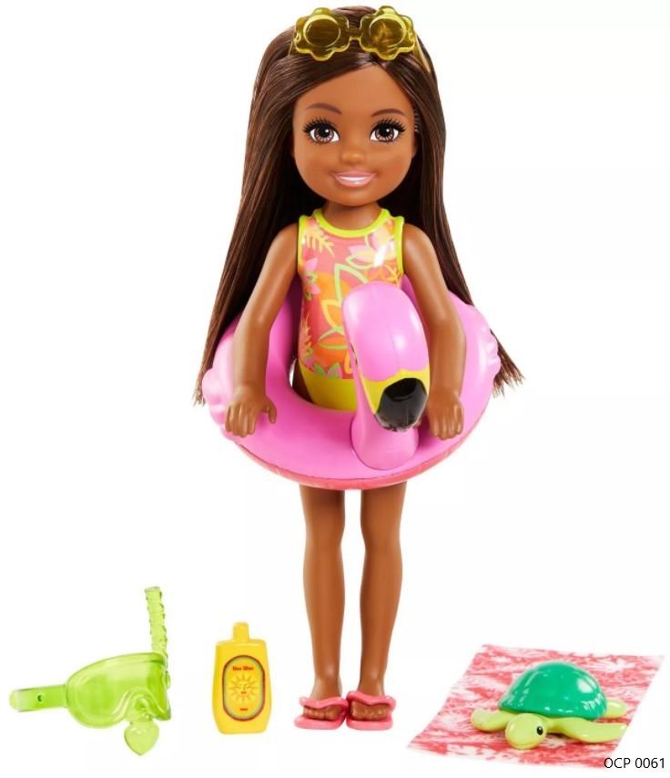 Boneca Barbie Chelsea Praia Flamingo - Mattel
