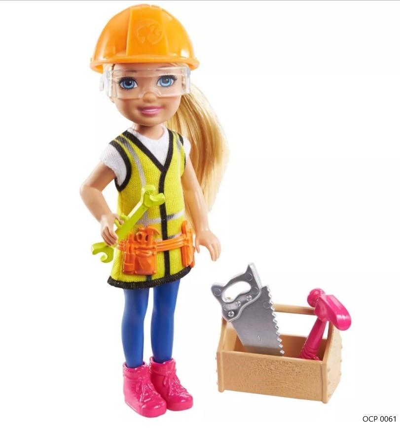 Boneca Barbie  Chelsea Profissões  Construtora - Mattel