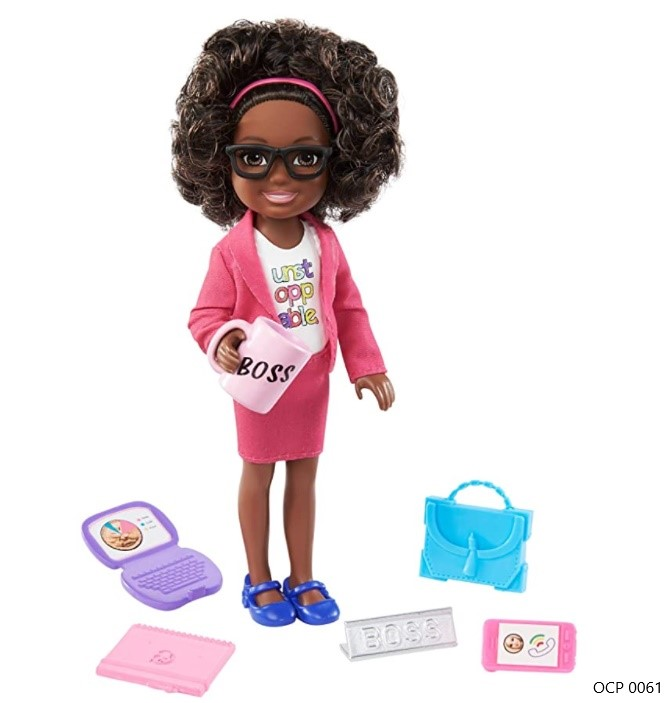 Boneca Barbie Chelsea Profissões Empresária - Mattel