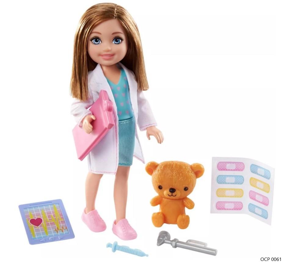 Boneca Barbie  Chelsea Profissões Médica - Mattel