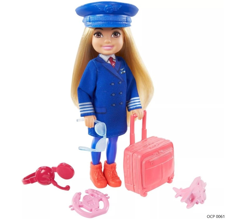 Boneca Barbie  Chelsea Profissões Piloto de Avião - Mattel