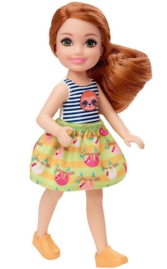 Boneca Barbie Club Chelsea Cabelo Ruivo Preguiça