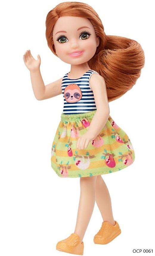 Boneca Barbie Club Chelsea Cabelo Ruivo Preguiça - Mattel