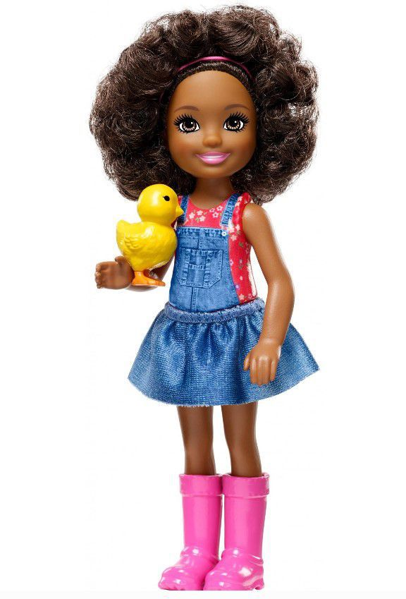Boneca Barbie Club Chelsea - Doce Pomar da Fazenda com Pintinho Amarelo