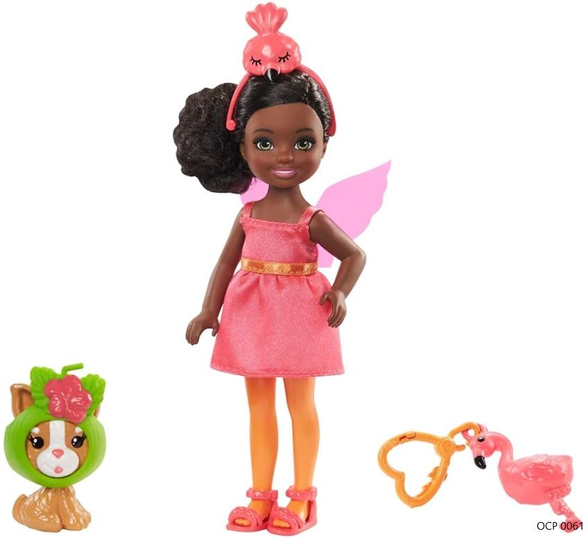 Boneca Barbie Club Chelsea Festa a Fantasia Flamingo - Mattel