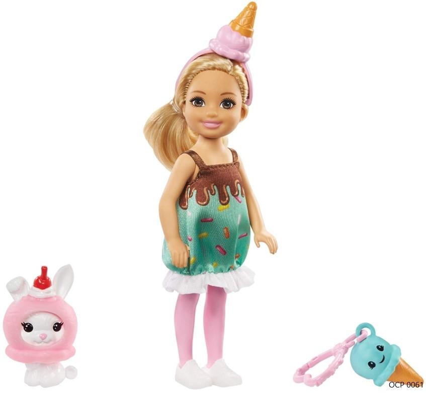 Boneca Barbie Club Chelsea Festa a Fantasia Sorvete - Mattel