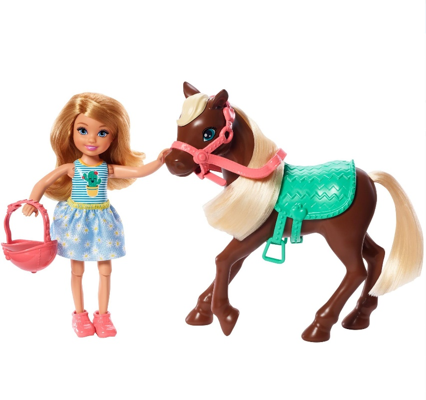 Boneca Barbie Club Chelsea Loira e Pônei
