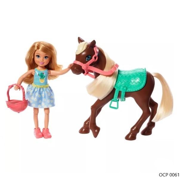 Boneca Barbie Club Chelsea Loira e Pônei - Mattel