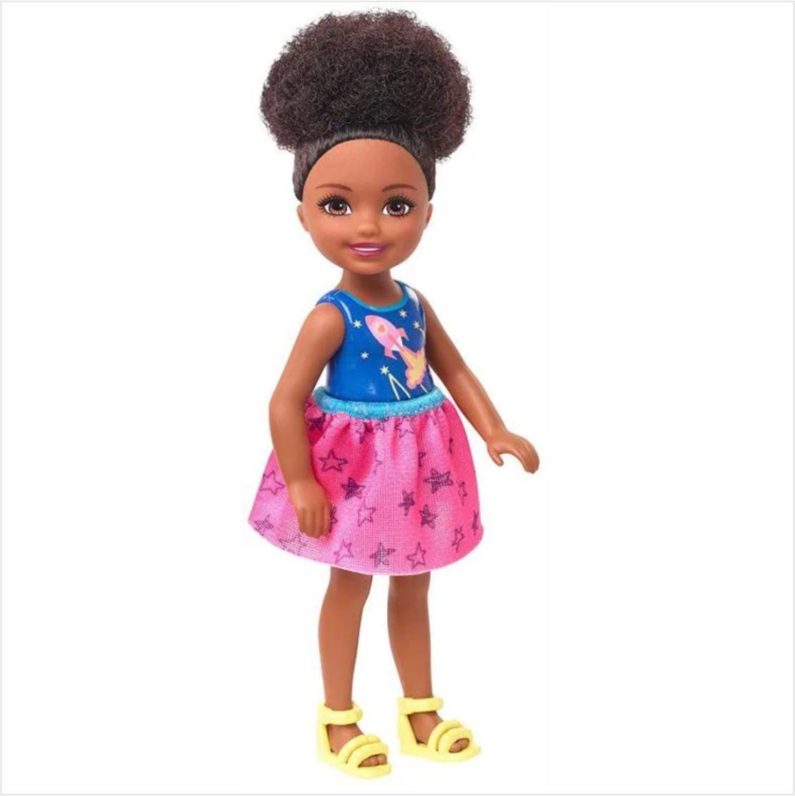 Boneca Barbie Club Chelsea Menina Foguete