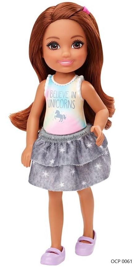 Boneca Barbie Club Chelsea Morena Unicórnio - Mattel