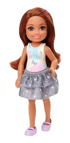 Boneca Barbie Club Chelsea Morena Unicórnio