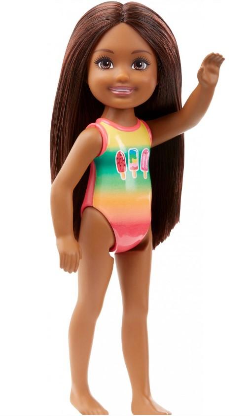 Boneca Barbie Club Chelsea Praia Maiô Sorvete
