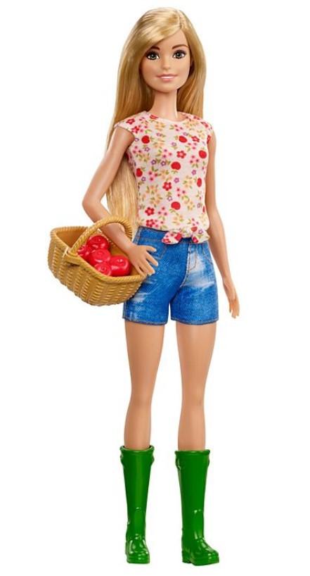 Boneca Barbie Doce Pomar da Fazenda - Cesto com Maças